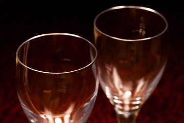 Two glasses from top
