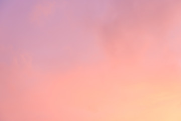 Background of the pastel color evening sky and amazing clouds.