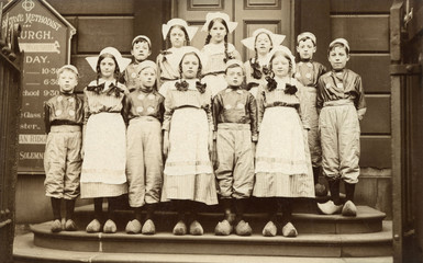Huddersfield Children. Date: circa 1900