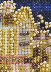 background of bead embroidery