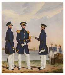 19th century Naval Officers. Date: 1830