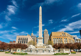 Tuinposter Buffel McKinley Monument on Niagara Square in Buffalo - NY, USA