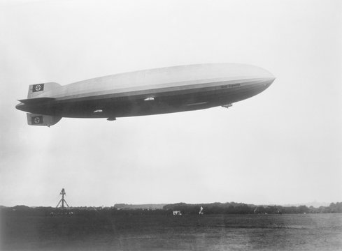 Airship - Zeppelin Takeoff. Date: 1938