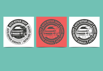 Auto Repair Service Labels Layout 1