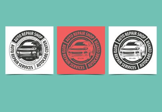 Auto Repair Service Labels Layout 1