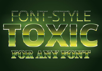Radioactive Text Style 1