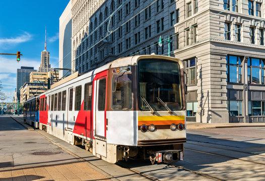 Metro Rail on Main Street in Buffalo, New York