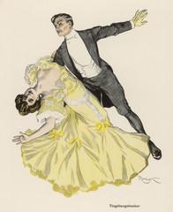 Tingel-Tangel Waltz. Date: 1908