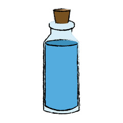 spa bottle essencial oil treatment aroma vector illustration