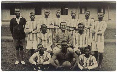 Nigerian Football Team. Date: circa 1930