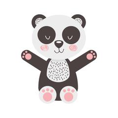 animal panda cartoon icon vector illustration design graphic