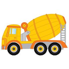 Vector Concrete Mixer. Vector Cement Mixer.