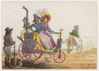 Steam Tricycle Project. Date: 1827