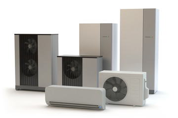 Air heat pump collection