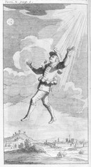 Cyrano De B - Visits Moon. Date: 1619 - 1655