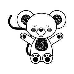 Animal koala cartoon icon vector illustration design draw
