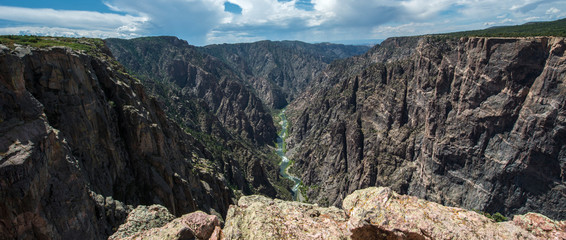 Spoed Fotobehang Canyon Black Canyon of the Gunnison, Colorado