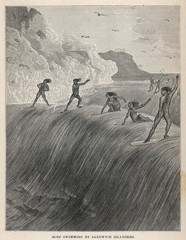 Surfing - Sandwich Is. Date: 1877