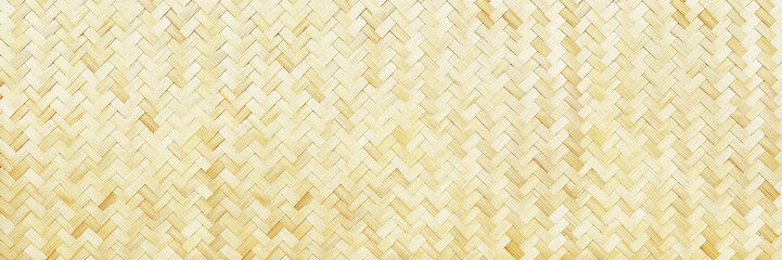 horizontal woven bamboo texture for background and design