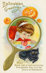 Customs - Halloween. Date: early 20th century
