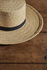 A classic Amish Man's straw hat