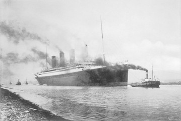 Titanic at Belfast. Date: 1912