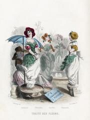 Flower Market. Date: 1847