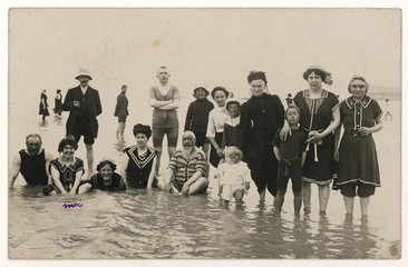 Bathing in the Sea - 1911. Date: 1911