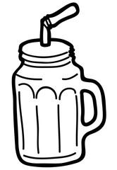 Mug jar sketch vector image