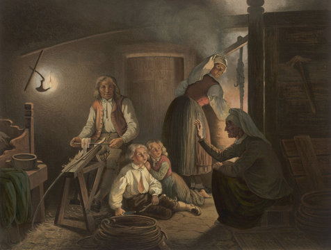 Norwegian storyteller. Date: circa 1851