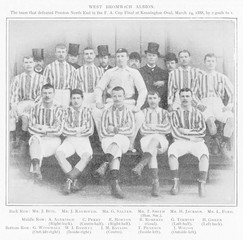West Brom Football Team. Date: 1888