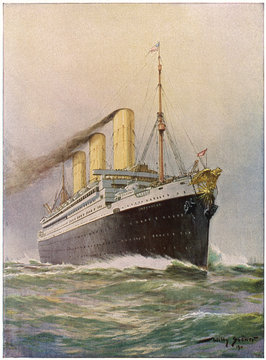 Imperator' Steamship. Date: launched 1912