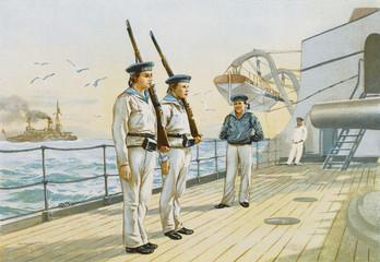 German Recruits Train. Date: 1899