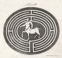 Centaur in Labyrinth. Date: 1768