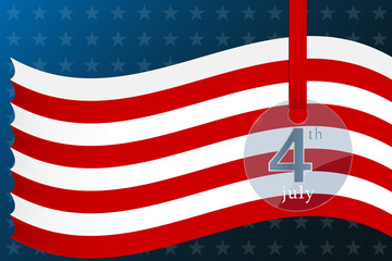 Fourth of july independence day of the usa background