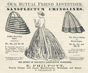 Crinoline Advert. 1864. Date: 1864