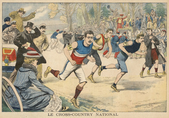 French cross-country race at Saint Cloud. Date: 1903