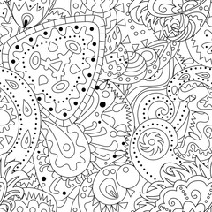 Seamless pattern with abstract ornaments.