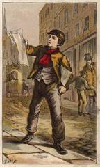 Newsboy. Date: circa 1870