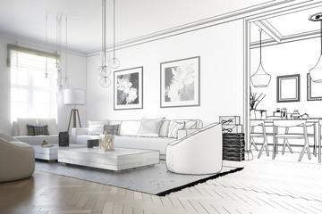 Raumadaptation: Wohnzimmer (Skizze)