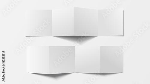 mock up 3d leaflet blank top view for brochure leaflet pamphlet