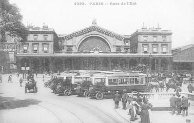 Wall Mural - Gare De L'Est  Paris 2. Date: circa 1908