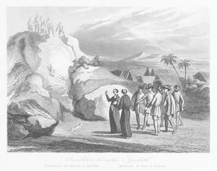 Las Cases reproaches Peruvians for sacrificing children. Date: 1541