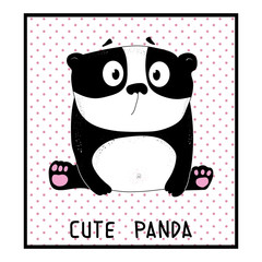 cute panda, animal vector illustration