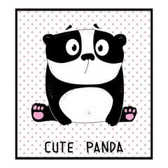 cute panda, animal vector illustration