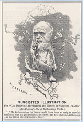 Charles Darwin as a tree-climbing anthropoid. Date: 1875