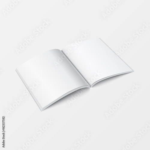 D Mockup Open Book Template Perspective View Booklet Blank White - 3d brochure template