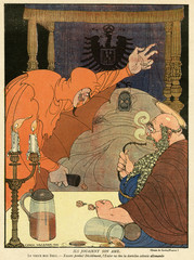 Cartoon  Playing with his soul  WW1. Date: 1916