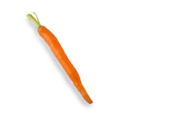 Baby Carrot on White Background