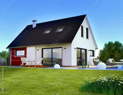 Belle maison moderne 3D\